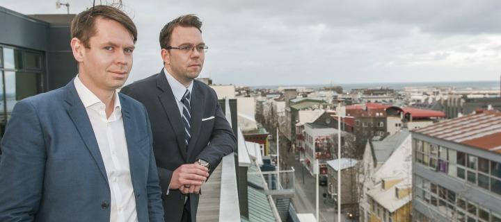 Þorsteinn B. Friðriksson er framkvæmdastjóri Plain Vanilla og Ýmir Örn Finnbogason fjármálastjóri fyrirtækisins.