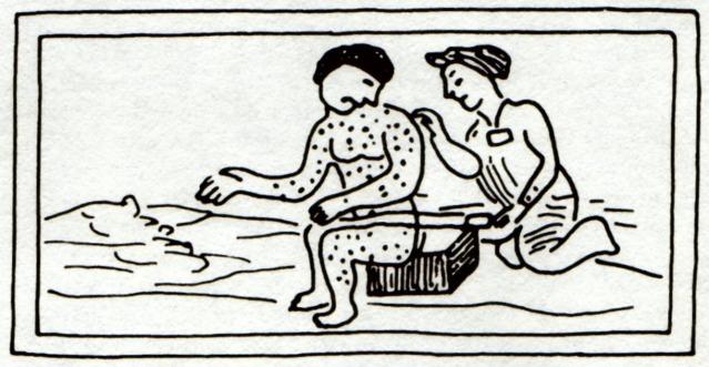 Azteka teikning frá 16. öld.