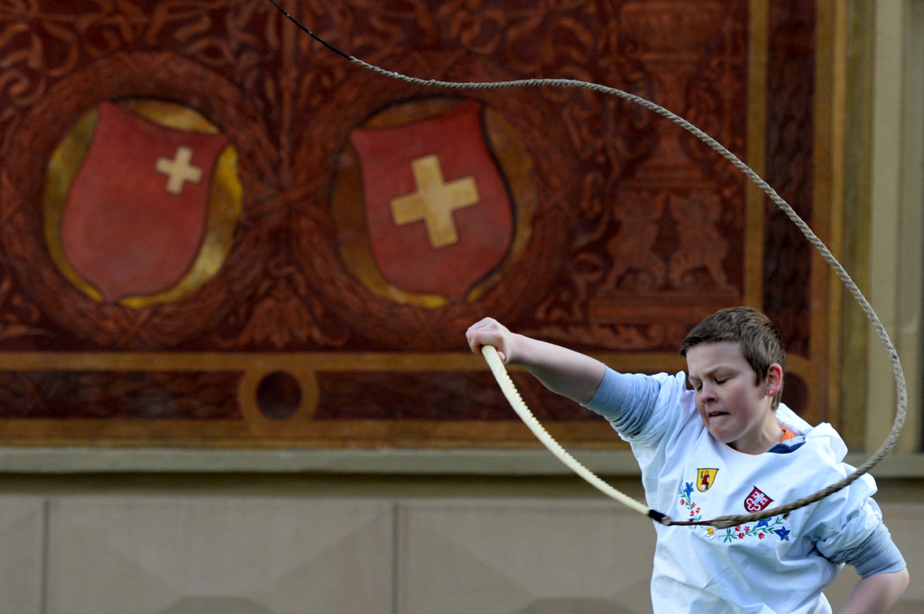 Swiss whipcracking championships in Schwyz