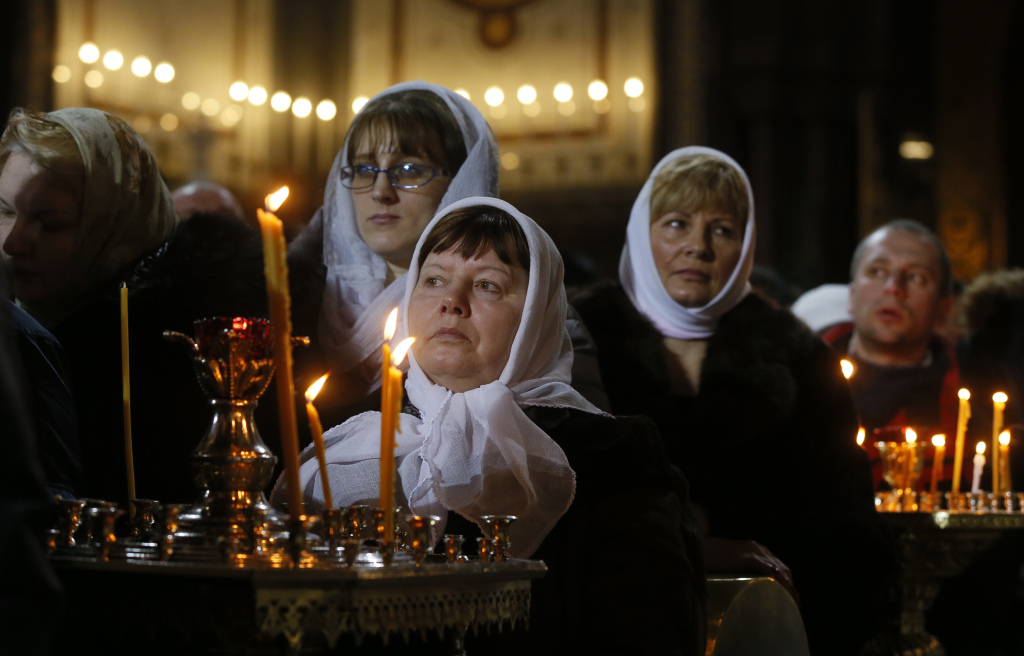 Russian Orthodox Christmas service