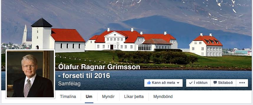 Hausinn á Facebook-síðunni þar sem Ólafur Ragnar er hvattur til að gefa ekki aftur kost á sér til endurkjörs.