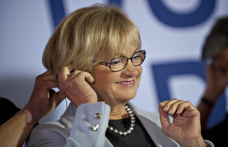Pia Kjærsgaard, er annar stofnenda Dansk Folkeparti. Hún, og flokkurinn, leggja mikla áherslu á harða afstöðu í málefnum innflytjenda.