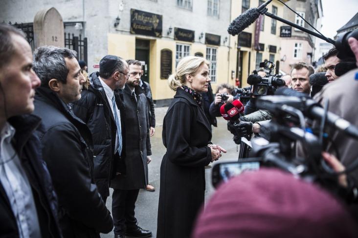 Helle Thorning-Schmidt, forsætisráðherra Danmerkur, þótti standa sig afar vel við erfiðar aðstæður sem sköpuðust eftir árásirnar. MYND:EPA