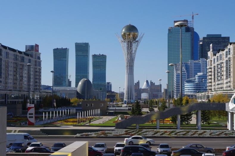 Miðborg Astana, höfuðborgar Kasakstan.