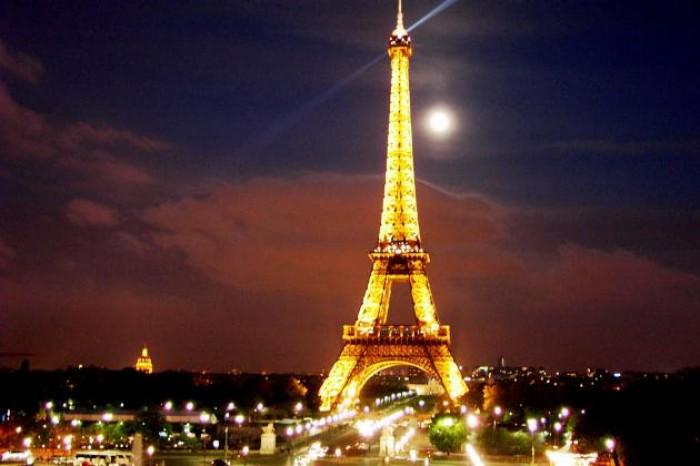 Frá París. Mynd: EPA.