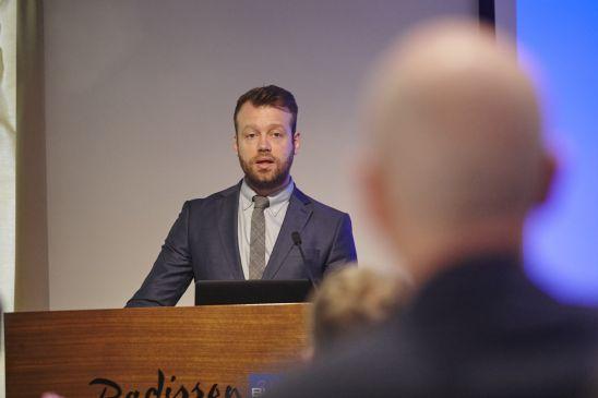 Þórður Snær Júlíusson, ritstjóri var fundarstjóri.