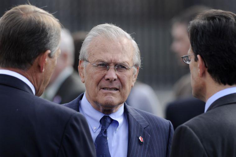 Donald Rumsfeld, fyrrverandi varnarmálaráðherra Bandaríkjanna. Mynd: EPA