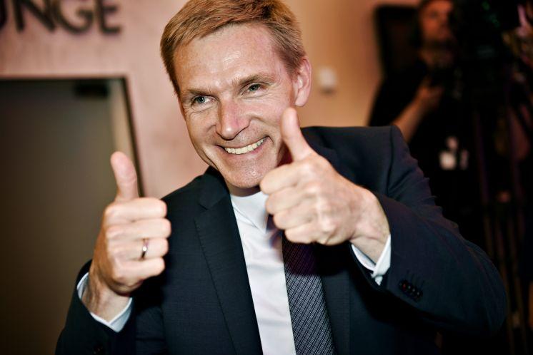 Formaður Danska þjóðarflokksins, Kristian Thulesen Dahl, nýtur  mikilla persónulegra vinsælda og það er talið vega þungt í útkomu flokksins.