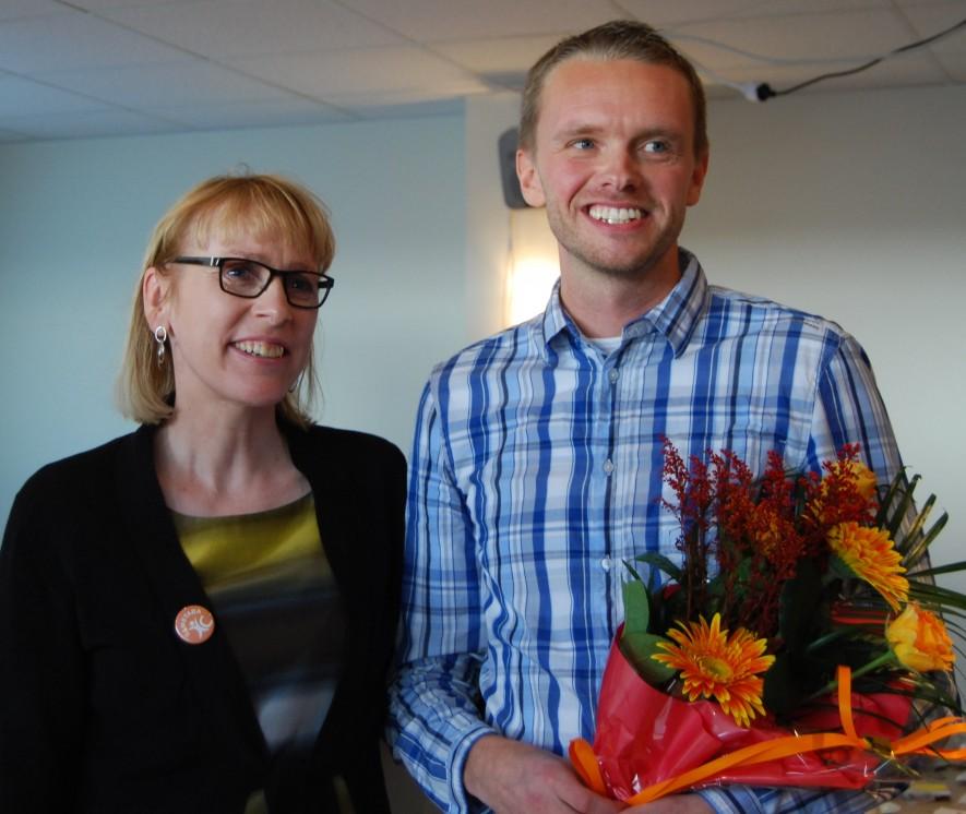 Lilja Mósesdóttir og Birgir Örn Guðjónsson, Biggi lögga, á aðalfundi Samstöðu haustið 2012. Mynd: Samstaða
