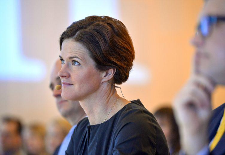 Anna Kingberg Batra formaður Moderatarna. Mynd: EPA