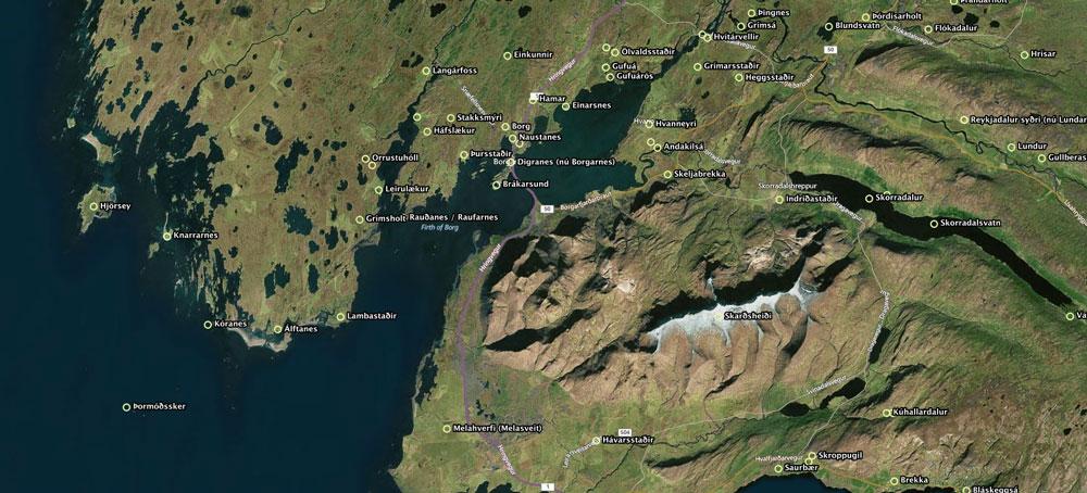 Borgarfjörður er sögusvið margra íslendingasagna.
