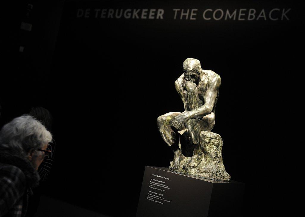 Þekktasta verk Rodin er hugsuðurinn, sem hér sést. MYND: EPA